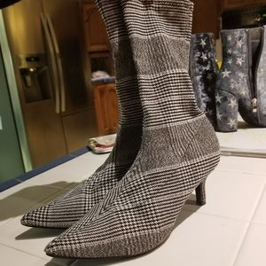 A new day socktop kitten ankle bootie heel Chevron